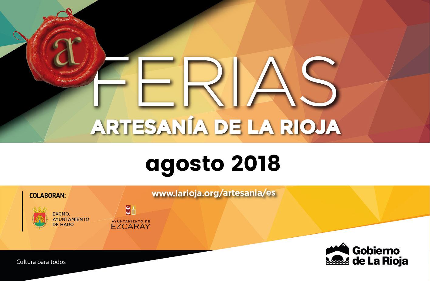 Las ferias de Artesanía de La Rioja este año una vez más en Haro y Ezcaray
