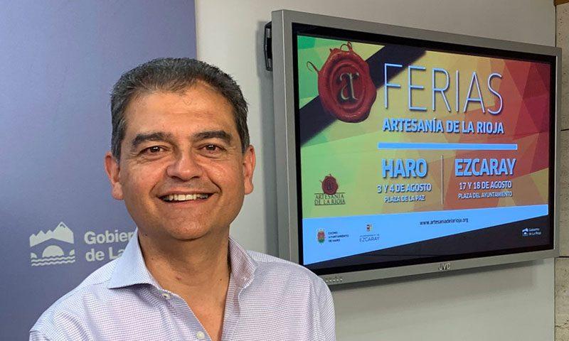 Haro y Ezcaray acogerán la tercera edición de las Ferias de Artesanía de La Rioja, promovidas por el Ejecutivo regional