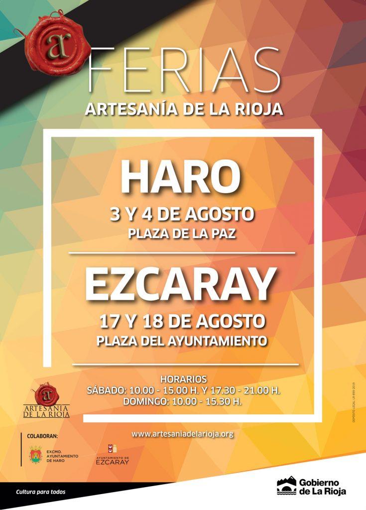 Cartel para las ferias de artesania de La Rioja